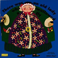 there was an old lady who swallowed a fly big book booksource